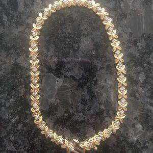 Jewelry - Diamond and gold xoxo bracelet